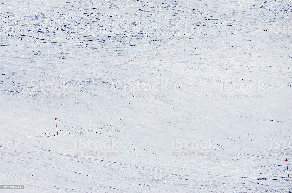 andorra ski slope snow marks blank copy space empty stock photo