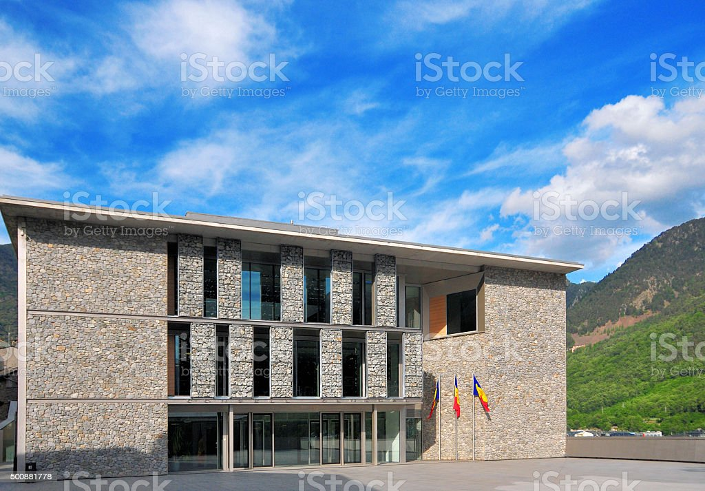 Andorra: the Government building stock photo