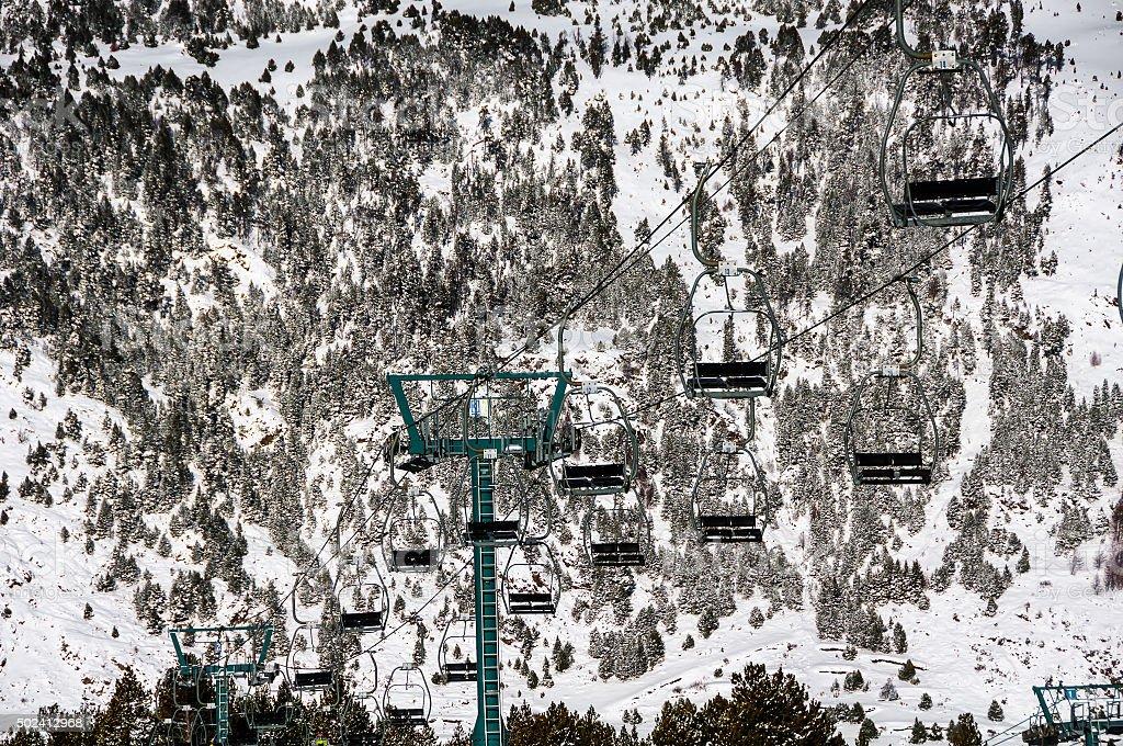 Andorra winter resort Granvalira stock photo