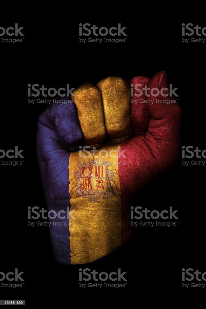 Andorran Fist Flag stock photo