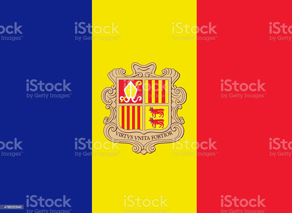 Andorran Flag stock photo