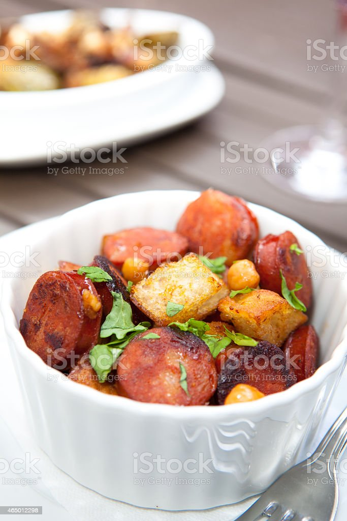 Andouille Sausage Dish stock photo