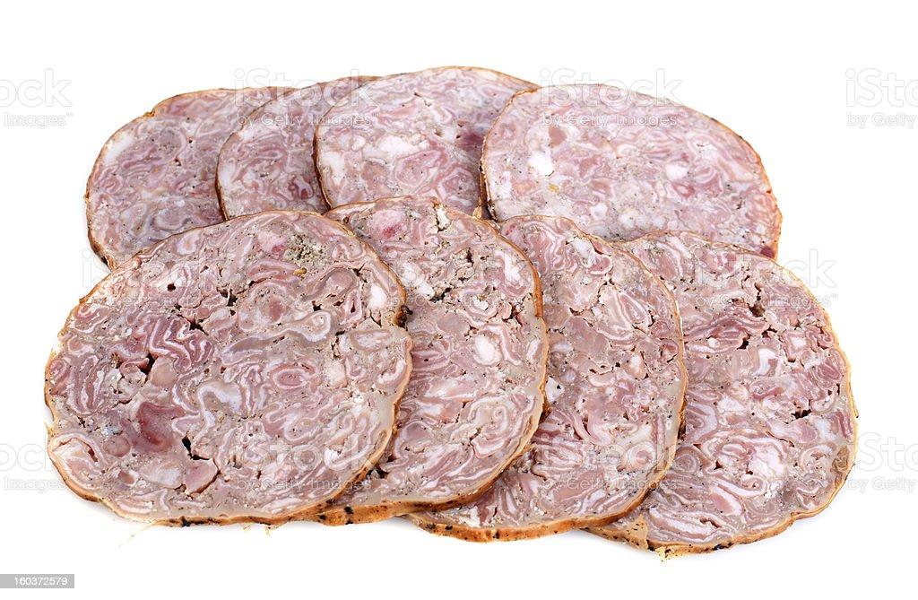 andouille sausage stock photo