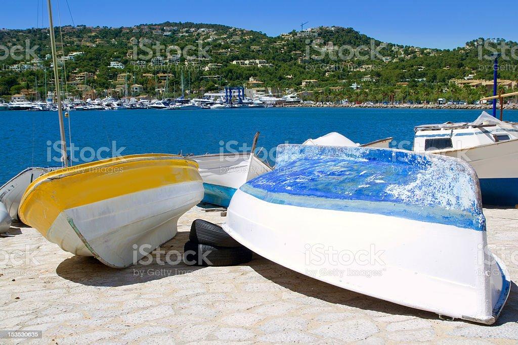 Andratx port marina in Mallorca balearic islands royalty-free stock photo