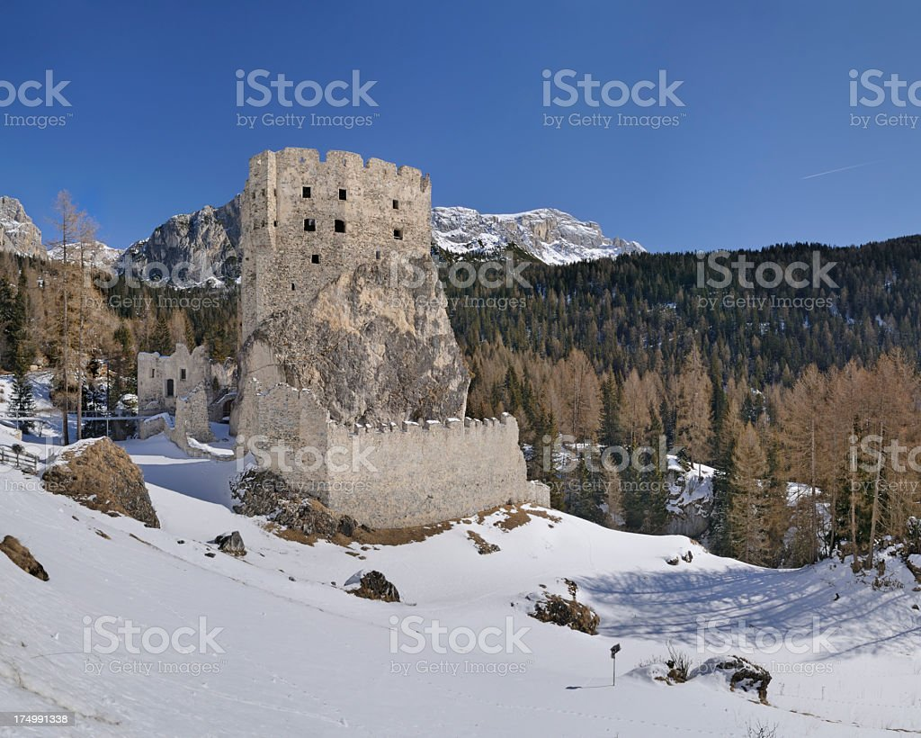 Andraz Castle (Dolomites - Italy) stock photo
