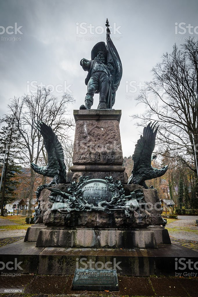 Andreas Hofer memorial stock photo