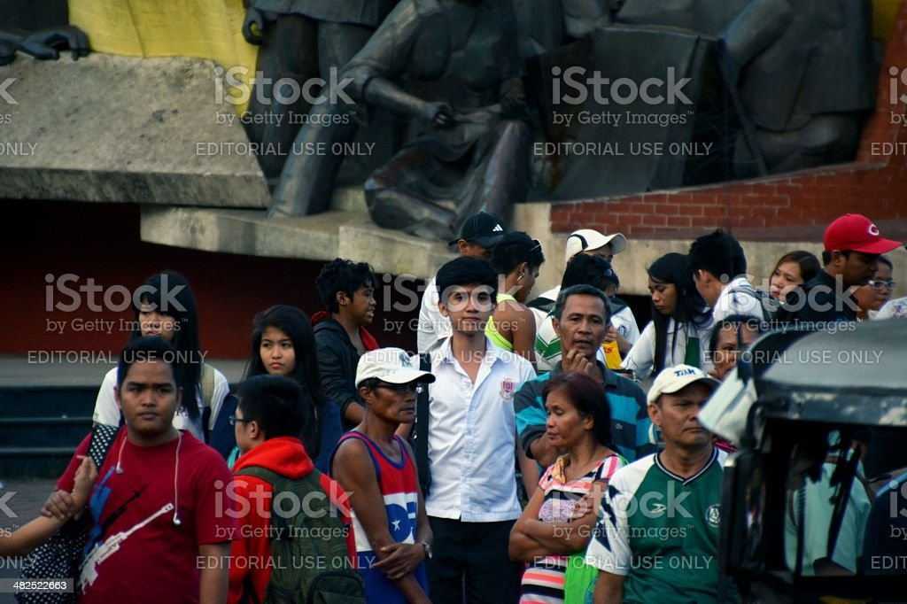 Andres Bonifacio shrine, Manila Philippines stock photo