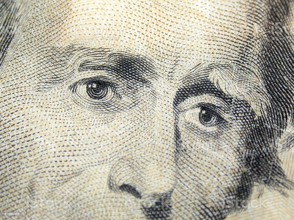 Andrew Jackson - $20 royalty-free stock photo