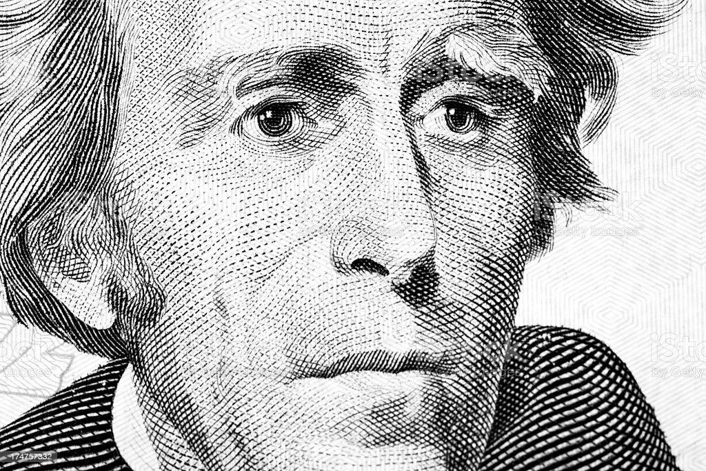 Andrew Jackson Portrait royalty-free stock photo