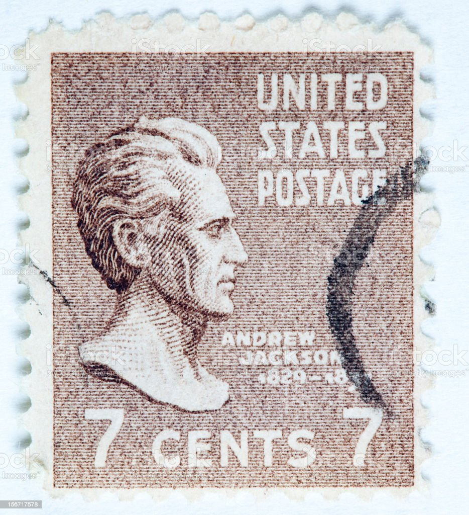 Andrew Jackson Postage Stamp royalty-free stock photo