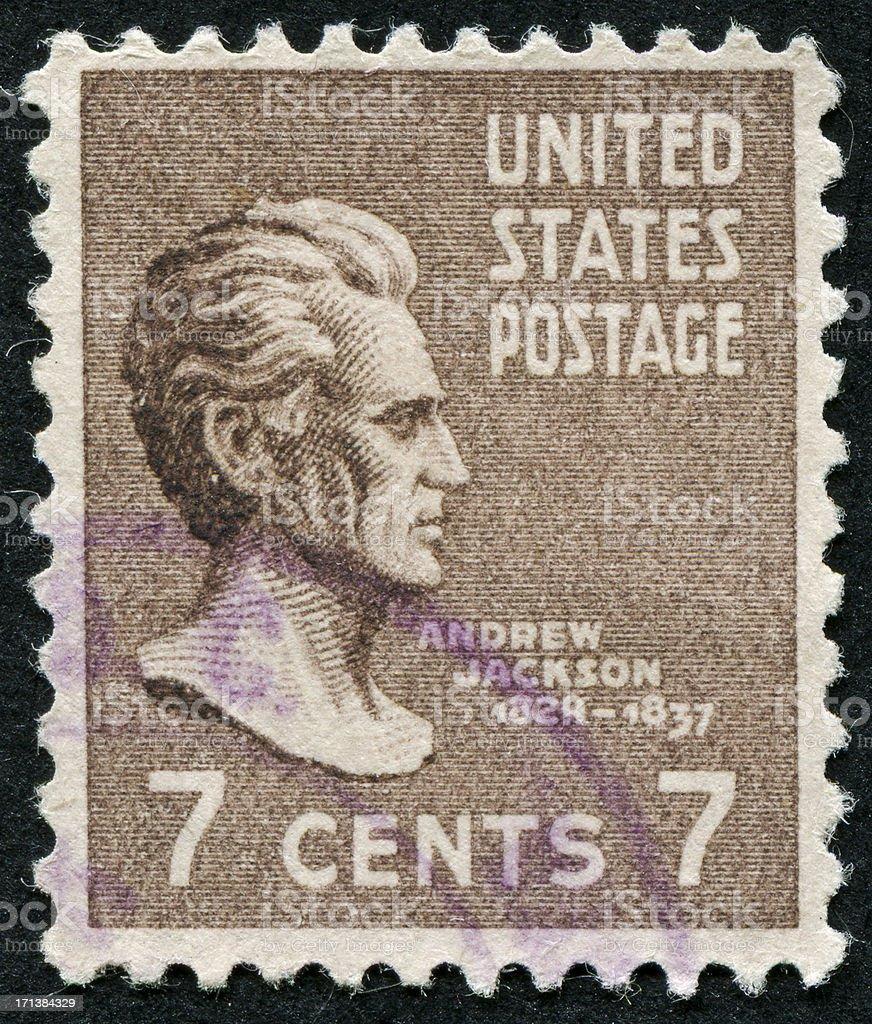 Andrew Jackson Stamp stock photo