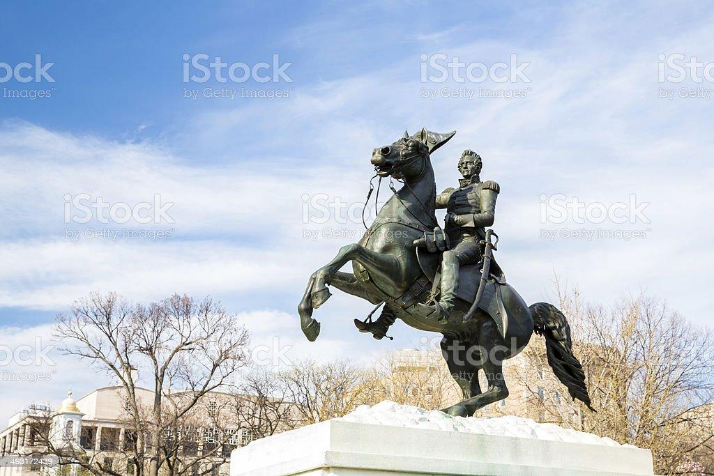 Andrew Jackson statue stock photo