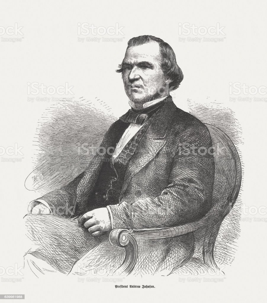 Andrew Johnson (1808-1875), 17th President of the United States stock photo