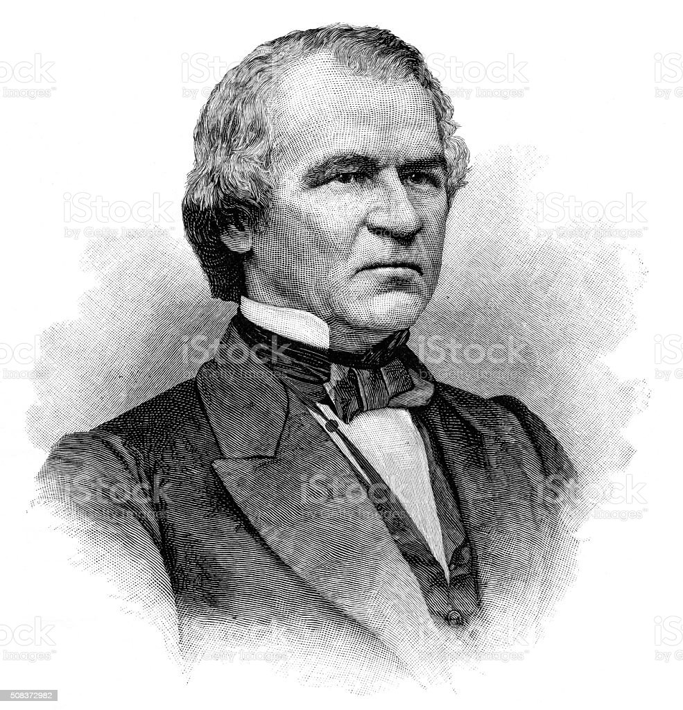 Andrew Johnson from 1890 stock photo