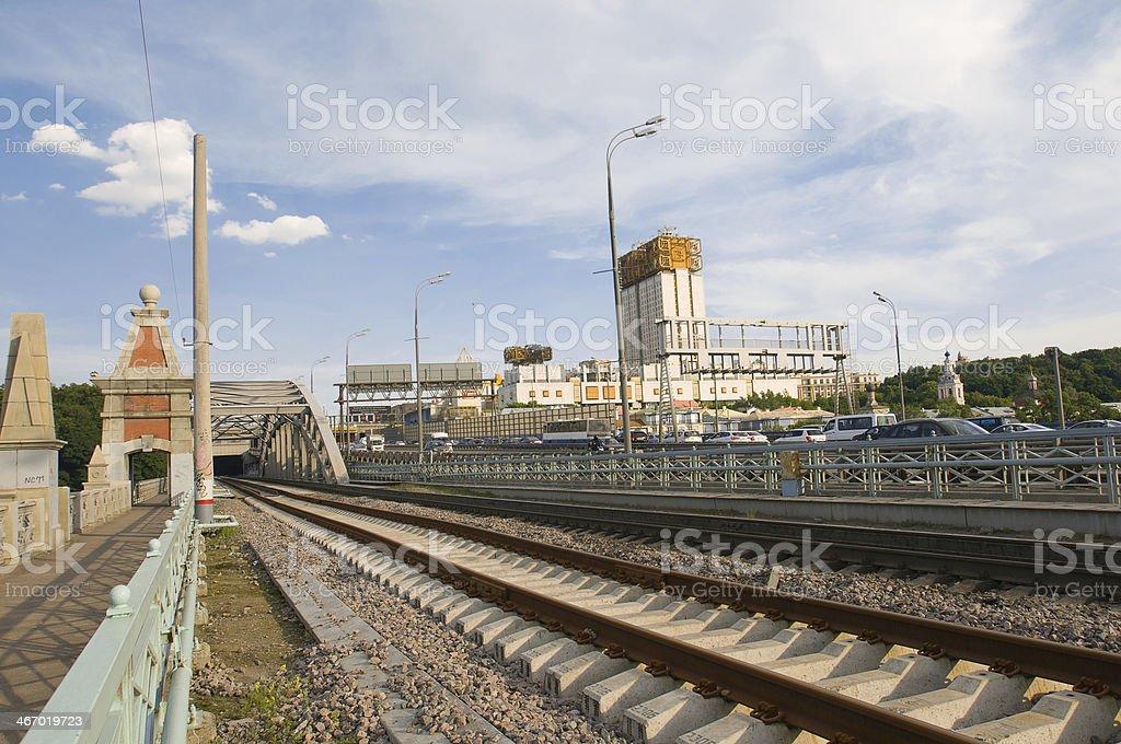 Andrew railway bridge royalty-free stock photo