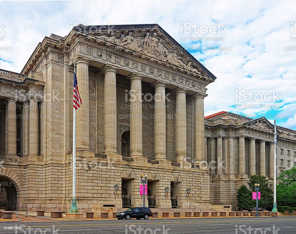 Andrew W Mellon Auditorium in Washington DC stock photo