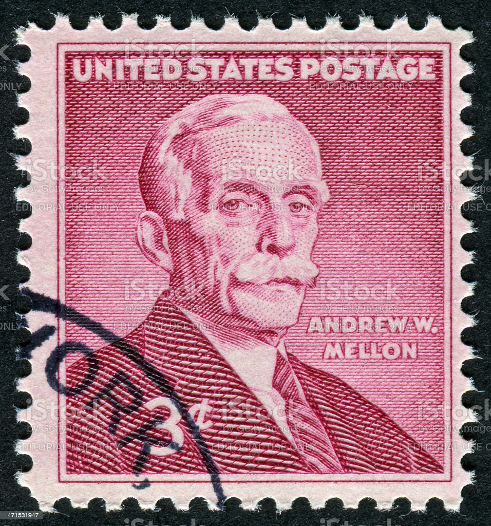 Andrew W. Mellon Stamp royalty-free stock photo