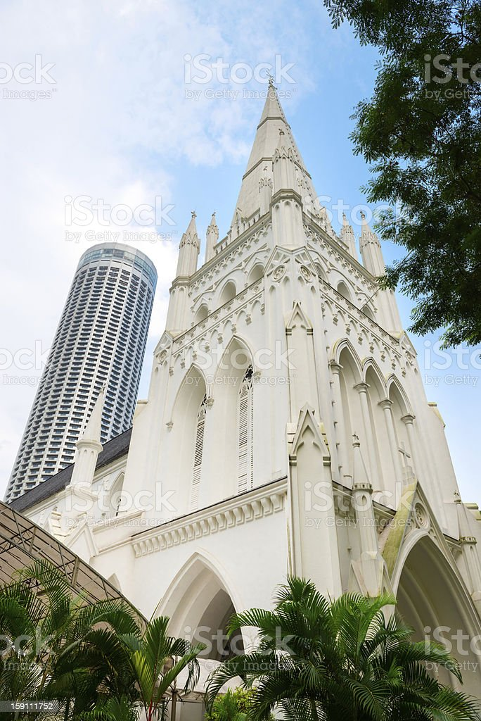 Andrew's Cathedral in Singapore. royalty-free stock photo