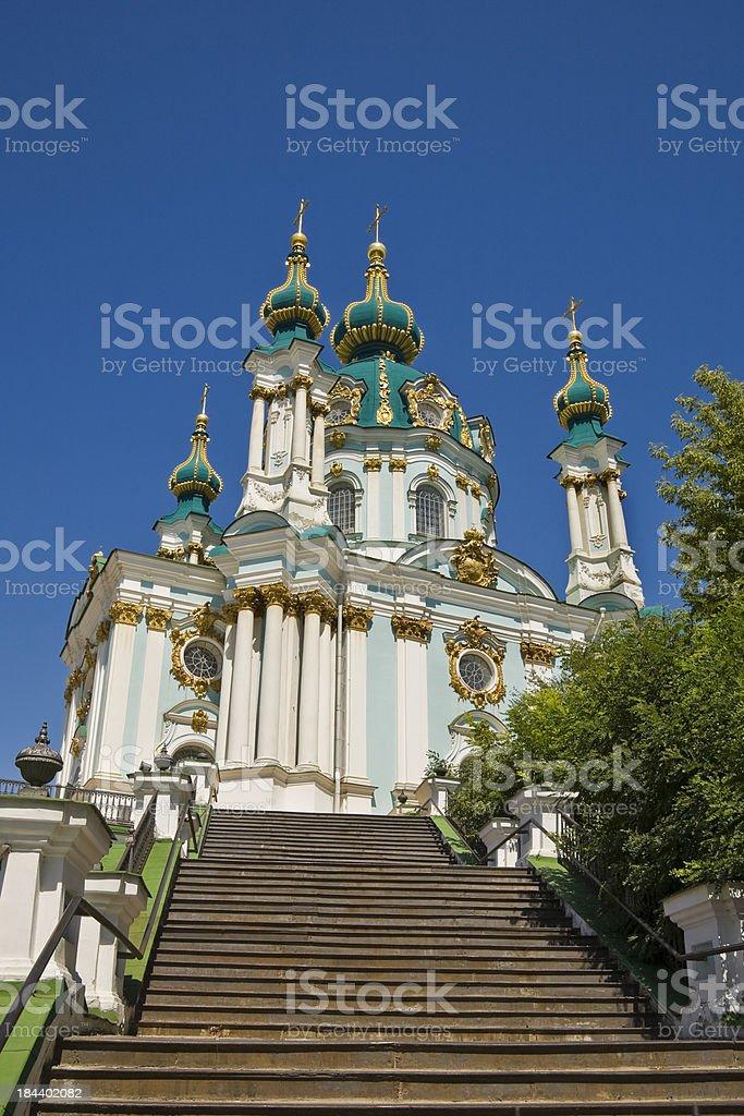 Andrew's church in Kiev stock photo