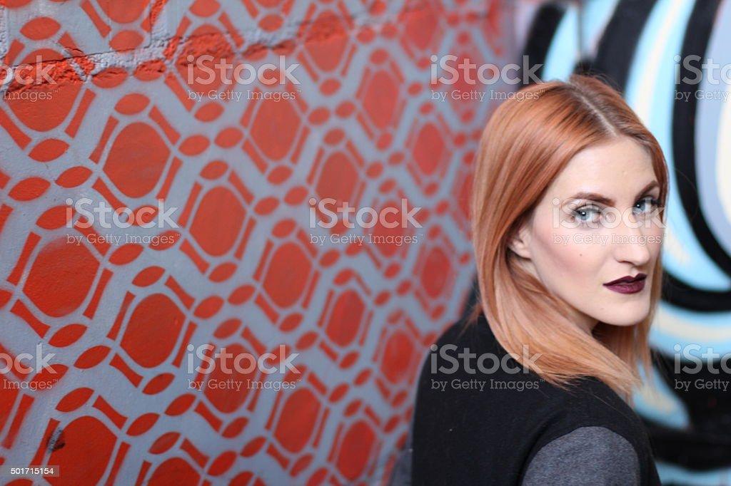 Androgynous beautiful young man as a beautiful woman stock photo