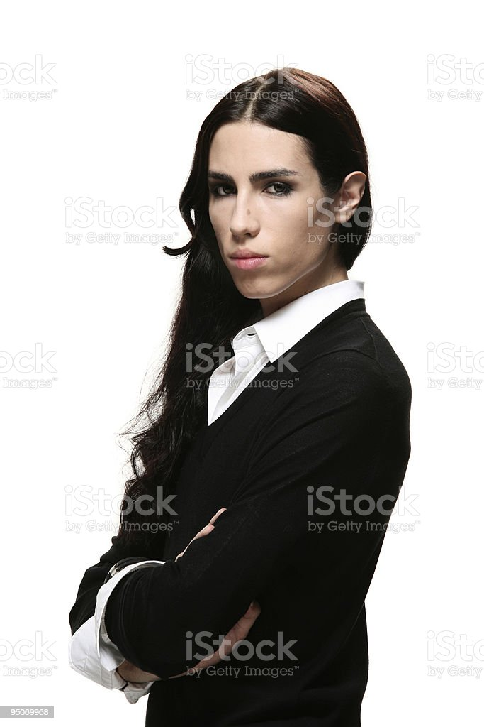 androgynous boy royalty-free stock photo
