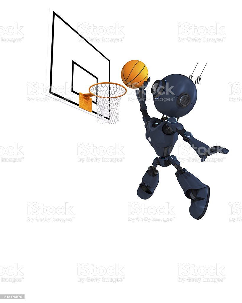 Android Basketball Player vector art illustration