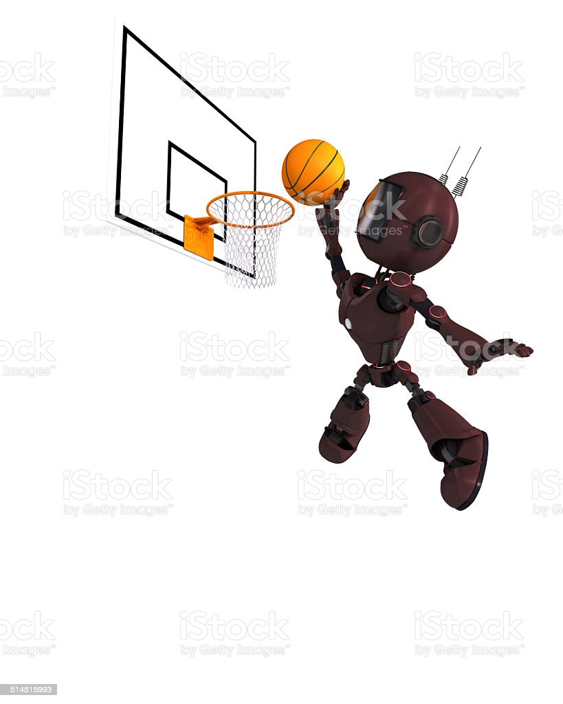 Android Basketball Player stock photo