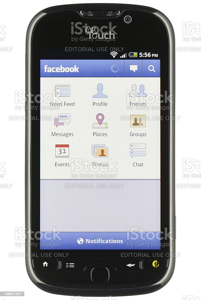 Android Facebook App stock photo
