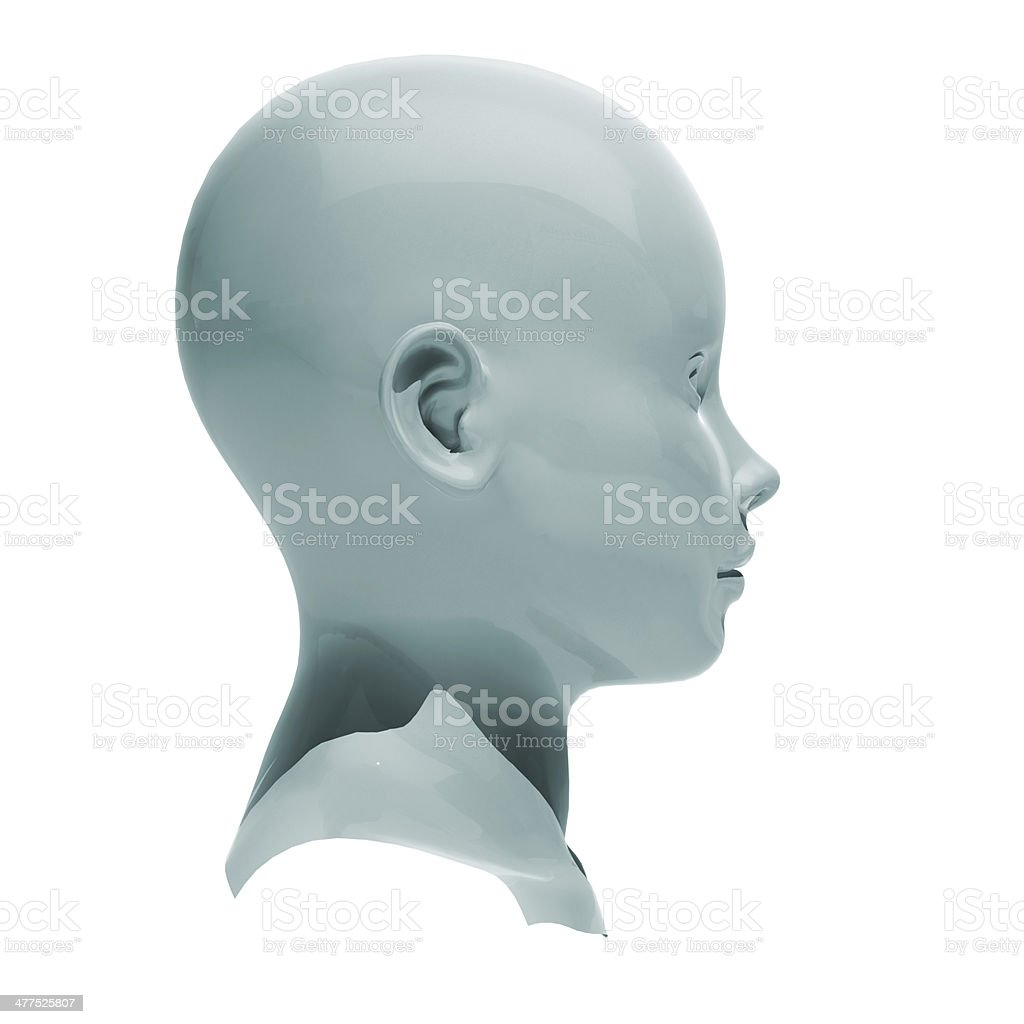 Android head isolated stock photo