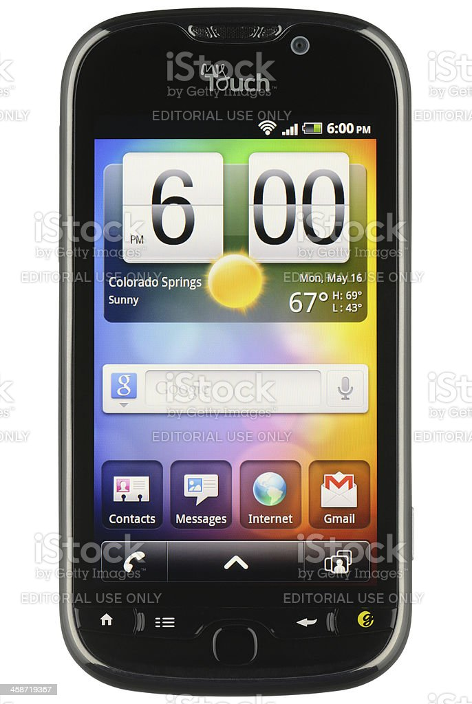 Android Home Screen stock photo