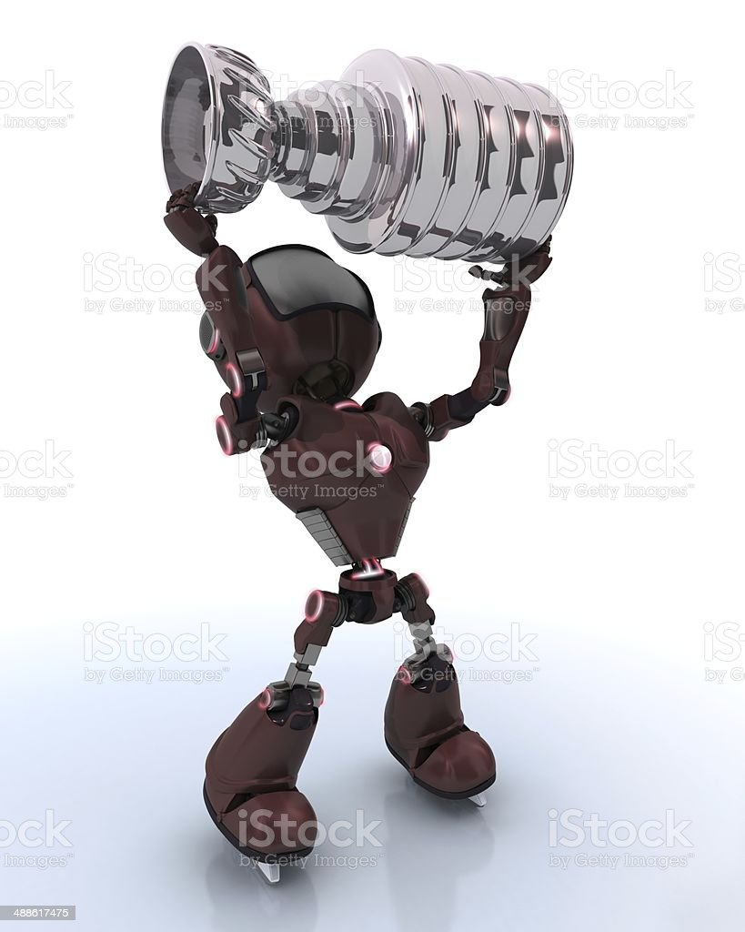 Android ice hockey champion stock photo