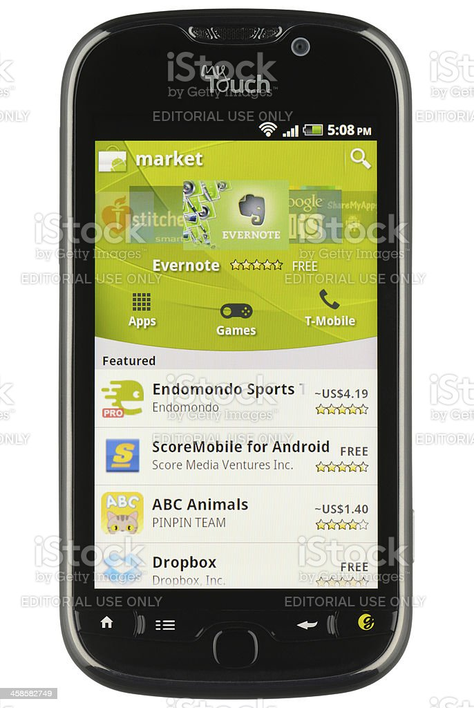 Android Market royalty-free stock photo