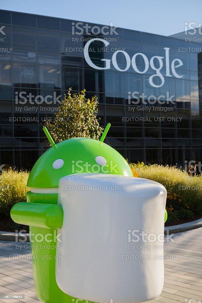 Android Marshmallow statue stock photo