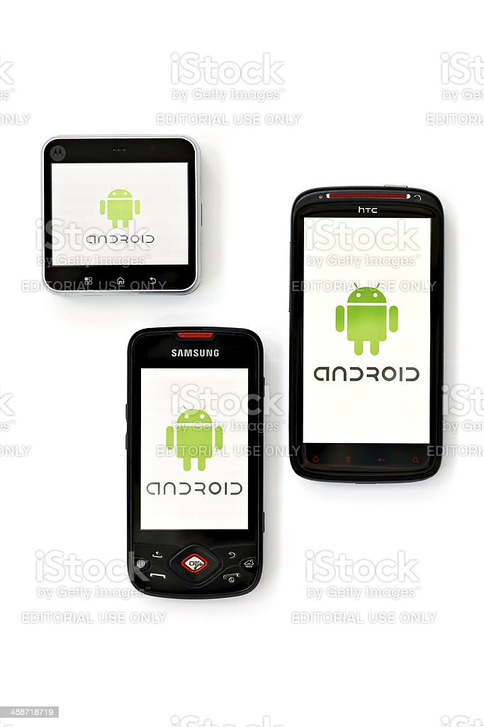Android phones royalty-free stock photo