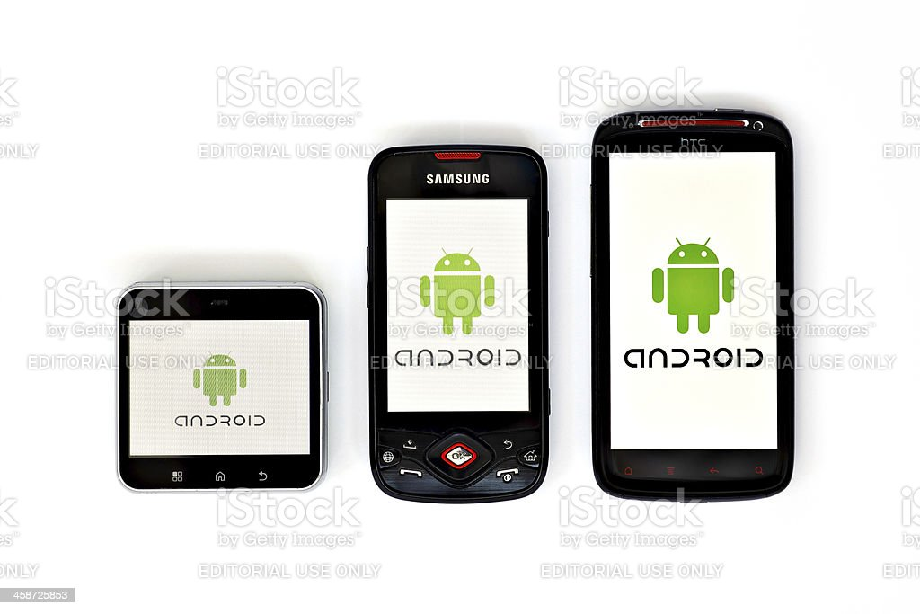 Android phones stock photo