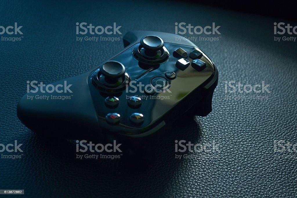 android tv game controller stock photo