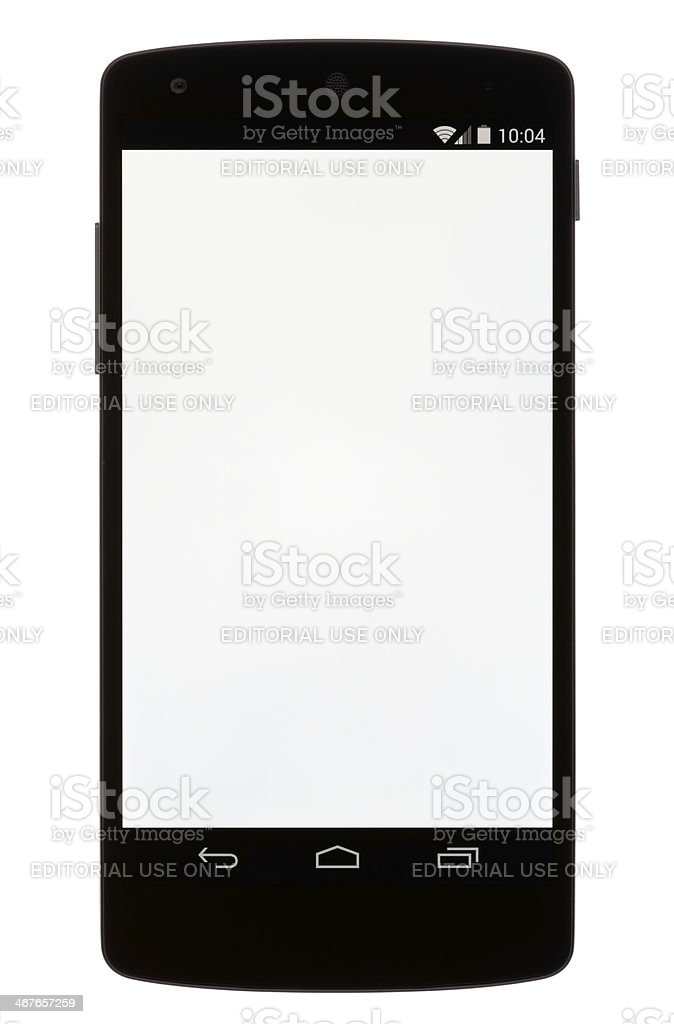 Android with a Blank Screen stock photo