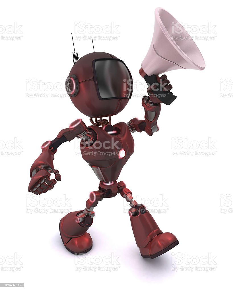 Android with bull horn royalty-free stock photo