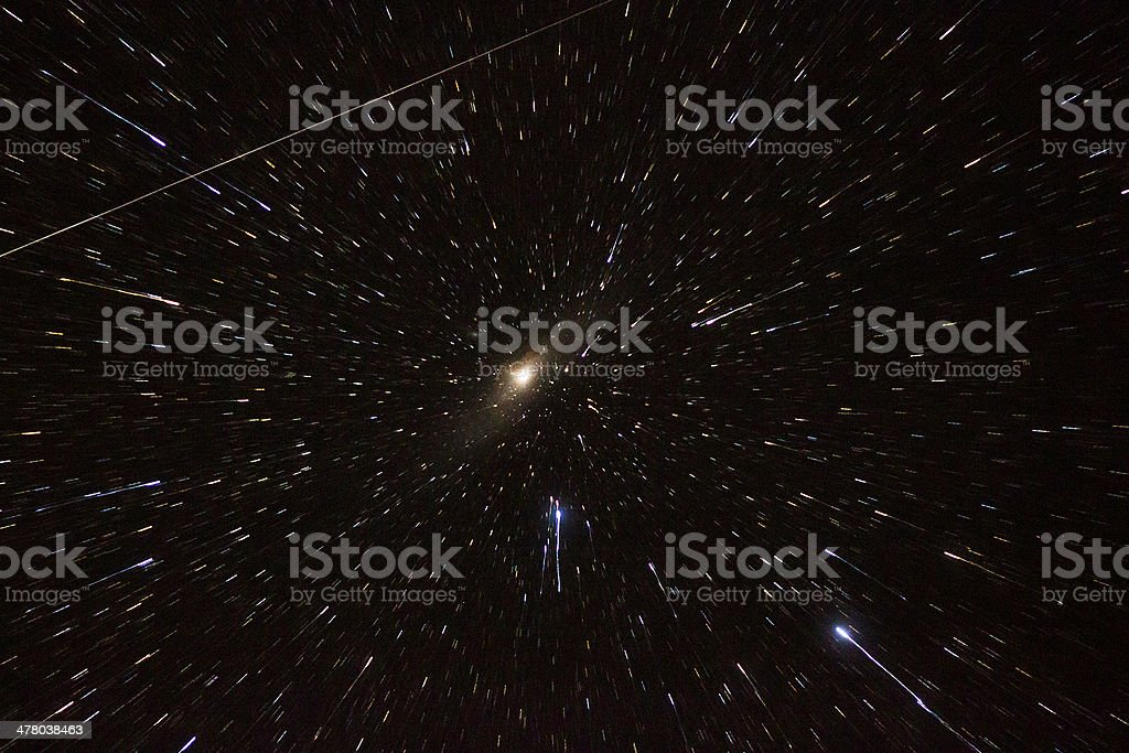 Andromeda Galaxy in Action royalty-free stock photo