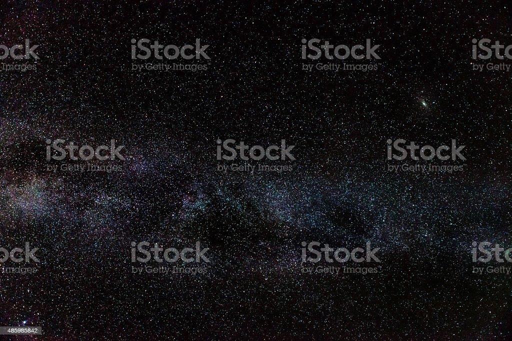 Andromeda Galaxy & Milky Way stock photo