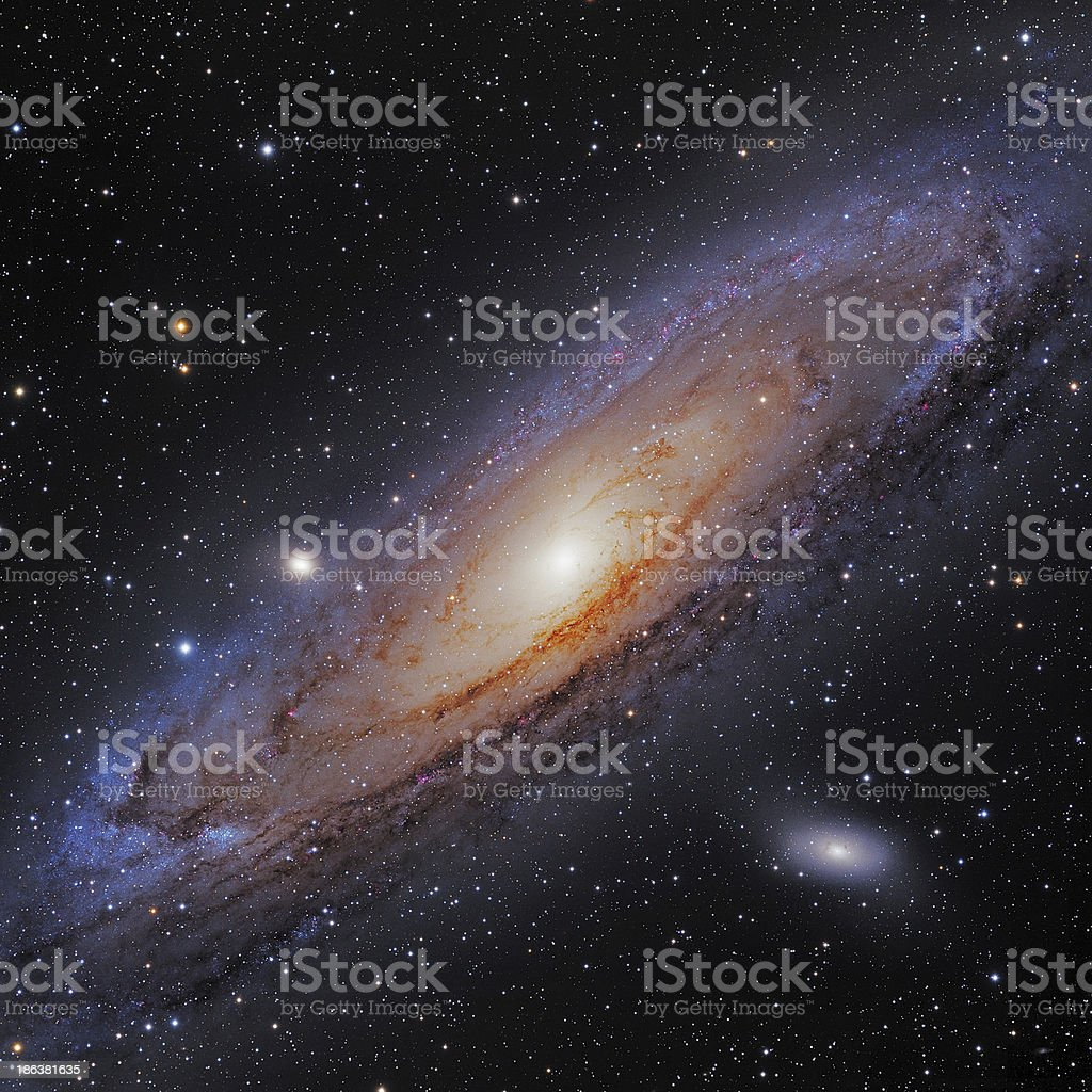 Andromeda Galaxy stock photo