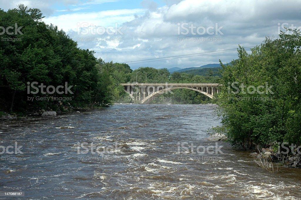 Androscoggin River stock photo