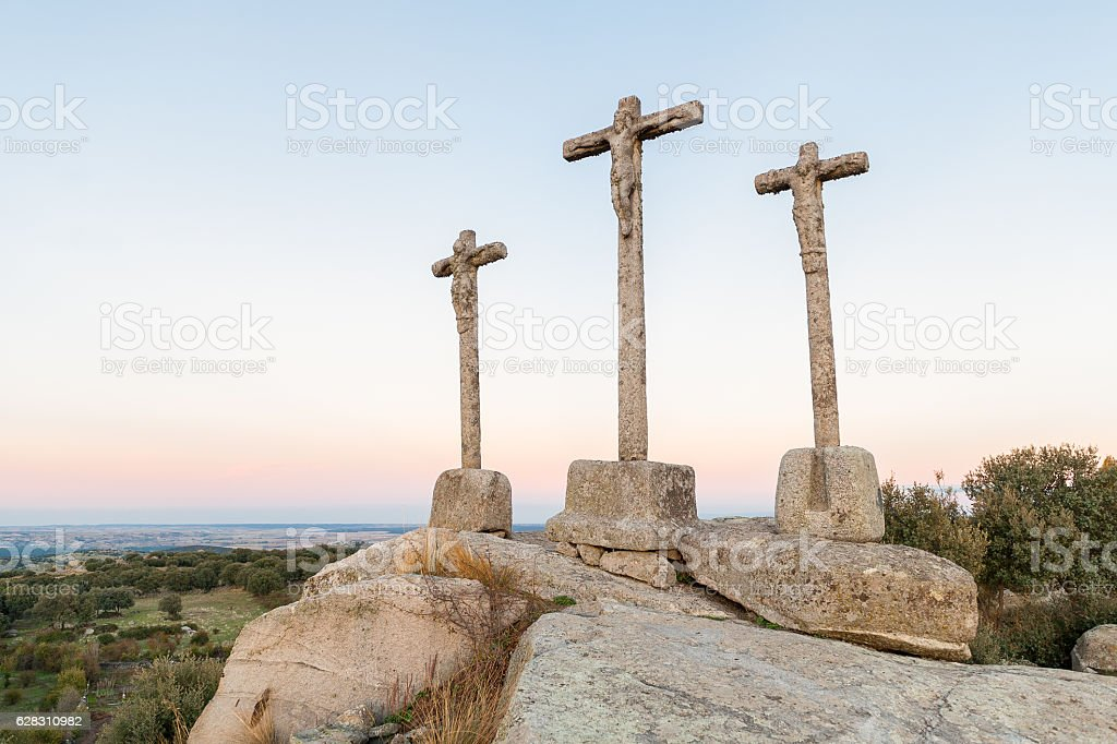 andscape stone crosses stock photo