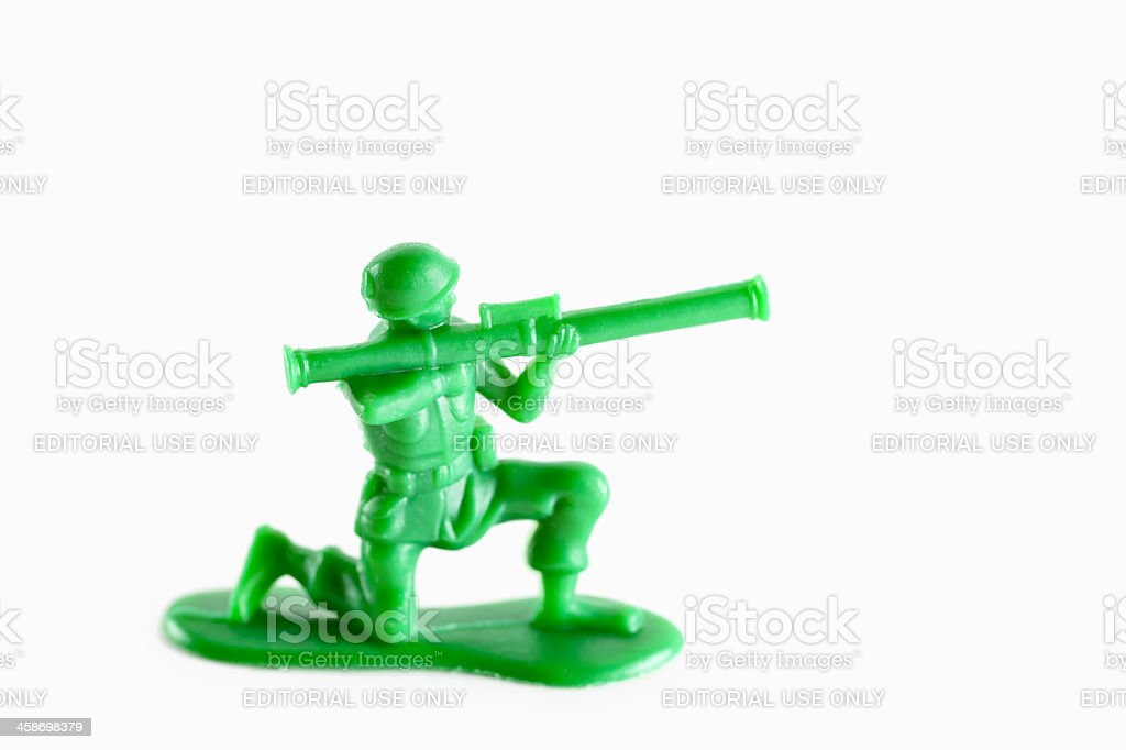 Andys Toy Soldier - Bazooka royalty-free stock photo