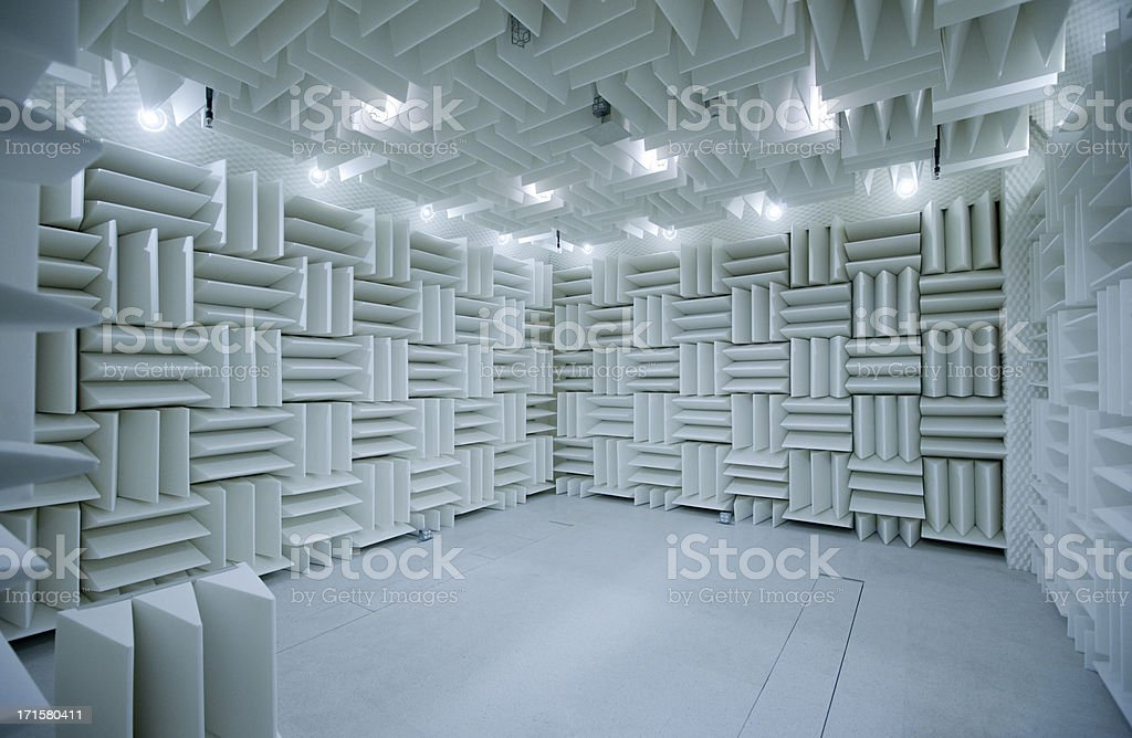 Anechoic Chamber for Acoustical Testing stock photo