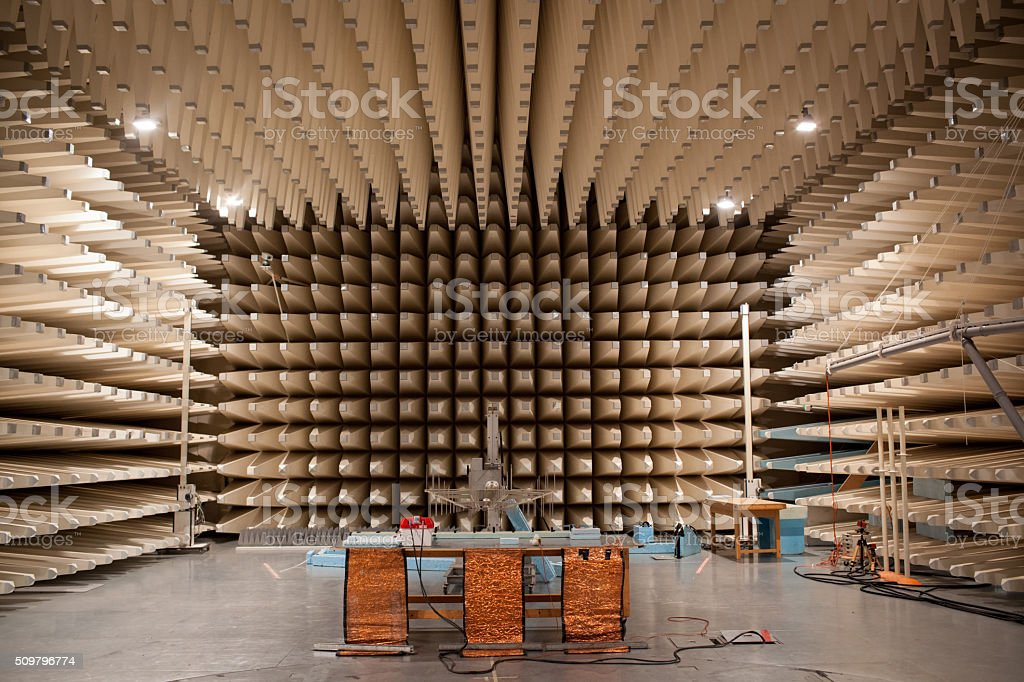 Anechoic chamber stock photo