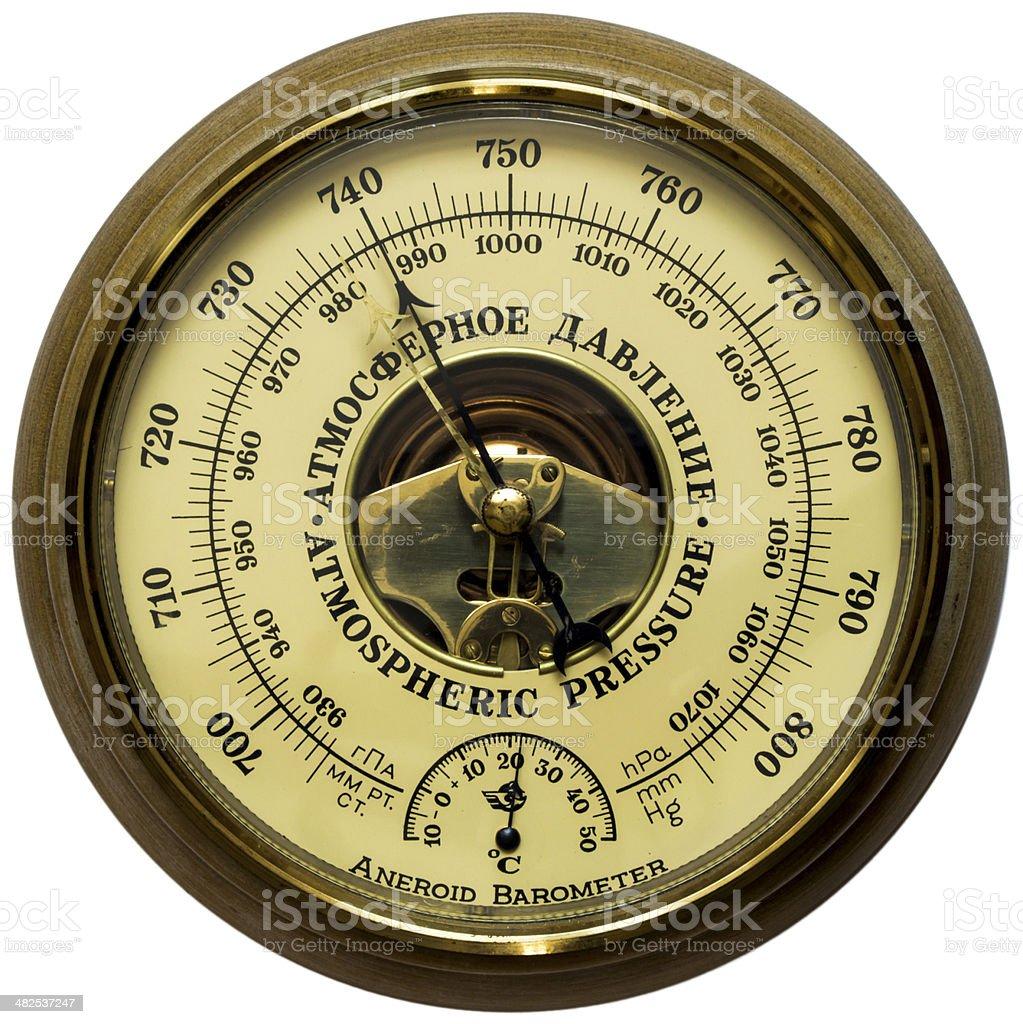 Aneroid barometer stock photo