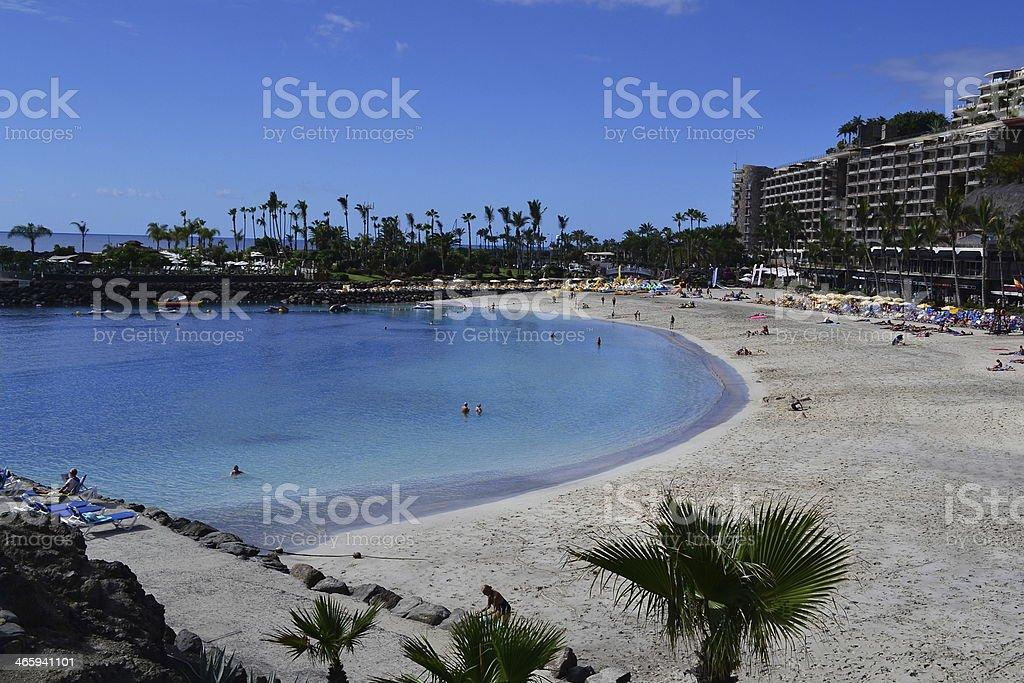 Anfi Del Mar Beach at Gran Canaria stock photo