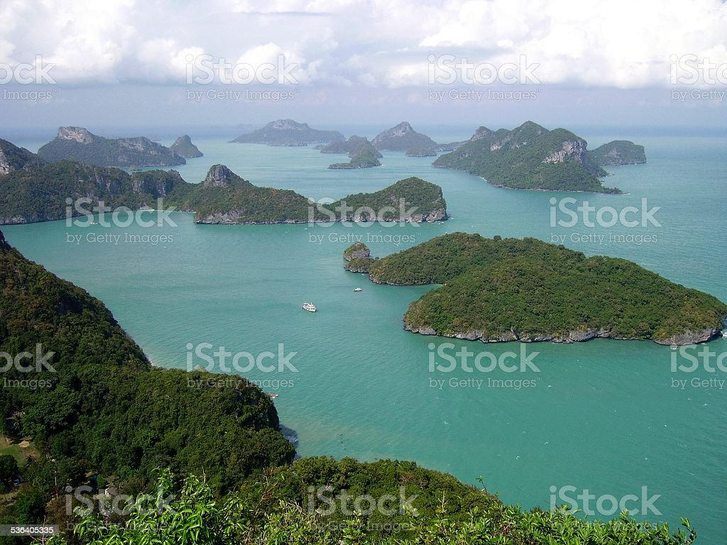 Ang Thong national park, panoramic view Thailand stock photo