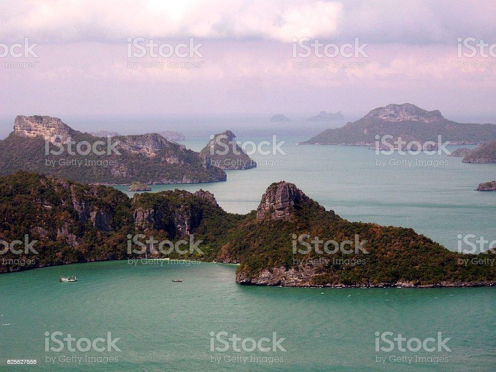 Ang Thong national park, panoramic view, Thailand stock photo